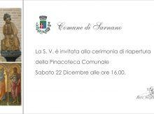Invito riapertura pinacoteca Sarnano